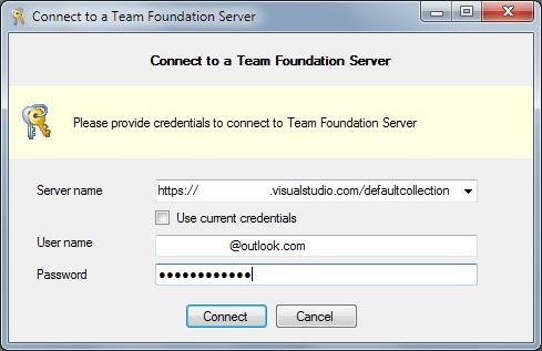 Credenciales TFS