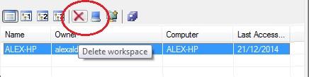 Eliminar Workspace