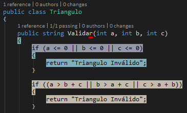 Code coverage Validar triangulo