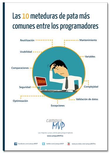 book - Free EBook Campus MVP Las 10 meteduras de pata más  comunes entre los programadores